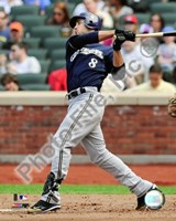 Ryan Braun 2009  Batting Action Fine Art Print