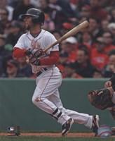 "Dustin Pedroia - 2009 Batting Action - 8"" x 10"", FulcrumGallery.com brand"