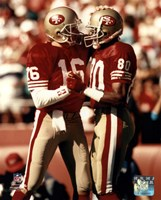 Jerry Rice / Joe Montana - Group Shot  (#2) Framed Print