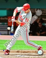 "Chase Utley - 2009 Batting Action - 8"" x 10"", FulcrumGallery.com brand"