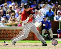 "Lance Berkman - 2009 Batting Action - 10"" x 8"", FulcrumGallery.com brand"