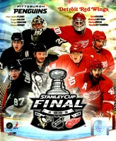 '09 St. Cup Match Up - Pens / Red Wings Fine Art Print