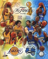 '09 NBA Finals Match Up - Lakers / Magic Fine Art Print