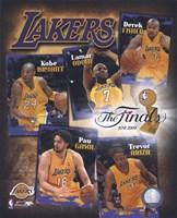 """2009 Finals - Lakers """"Big 5"""" Fine Art Print"""