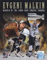 "Evgeni Malkin 2008-09 Stanley Cup Finals Conn Smythe Trophy Winner Portrait Plus (#61) - 8"" x 10"""
