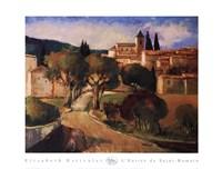 """L'entree De Saint Romain by Elisabeth Estivalet - 36"""" x 27"""""""