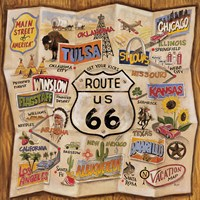 "Route 66 by Karen Dupre - 27"" x 27"" - $44.99"