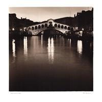 """Ponte Rialto di Notte by Alan Blaustein - 24"""" x 24"""""""