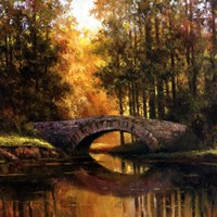 Stone Bridge Over Water Fine Art Print