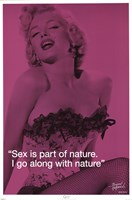 Marilyn Monroe - Sex iQuote Wall Poster