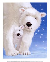 Fluffy Bears I Framed Print