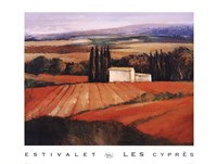 "Les Cypres by Elisabeth Estivalet - 36"" x 27"""