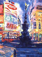 """Piccadilly Circus, London by Roy Avis - 24"""" x 32"""""""