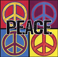 Peace - Colorful Framed Print