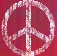 "Pink Peace by Louise Carey - 24"" x 24"" - $17.99"