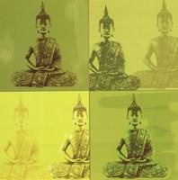 "Buddha - green - 16"" x 16"", FulcrumGallery.com brand"
