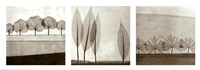Leaf Landscape Triptych Fine Art Print