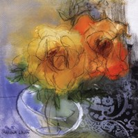 "Bouquet II by Marina Louw - 18"" x 18"""
