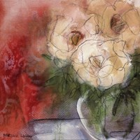 "Bouquet I by Marina Louw - 18"" x 18"""