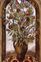 Bouquet Of Figs, Pears And Pomegranates Fine Art Print