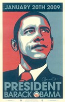 "Barack Obama - 2009 Inaugural Gallery Print - Matte Finish by Shepard Fairey - 11"" x 17"""