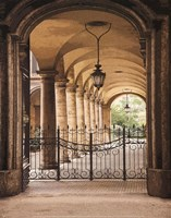 Courtyard Colonnade Fine Art Print