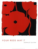 "Four Reds May 7 by Donald Sultan - 19"" x 25"""