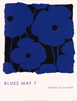 "Blues May 7 by Donald Sultan - 19"" x 25"""