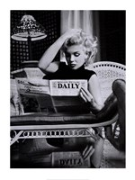 Marilyn Monroe - Motion Picture Daily Framed Print