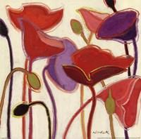 "Purple Party III by Shirley Novak - 12"" x 12"""