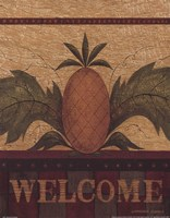 Welcome Pineapple Framed Print