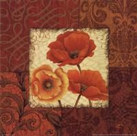 "Poppy Spices II by Daphne Brissonnet - 12"" x 12"""