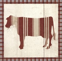 "Americana Cow by Sarah Adams - 10"" x 10"""