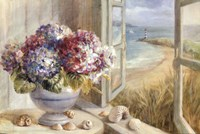 Coastal Hydrangea Framed Print
