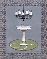 Chandelier Bath I Framed Print
