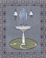 Chandelier Bath II Framed Print
