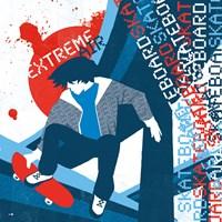 "8"" x 8"" Skateboarding"