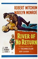 """River of No Return - style C, 1954, 1954 - 11"""" x 17"""""""