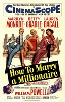 How to Marry a Millionaire, c.1953 - style C Fine Art Print