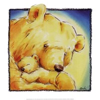 Mother Bear's Love IV Framed Print