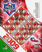 2009 Philadelphia Phillies National League Champions Team Composite Fine Art Print