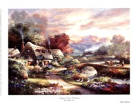 """Days End Retreat by James Lee - 8"""" x 6"""", FulcrumGallery.com brand"""