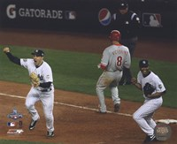 M.Teixeira & M.Rivera Celebrate the final out of Game Six of the 2009 MLB World Series (#26) Fine Art Print