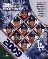 2009 Los Angeles Dodgers NL West Champions Team Composite Fine Art Print