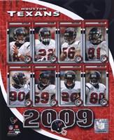"2009 Houston Texans Team Composite, 2009 - 8"" x 10"""