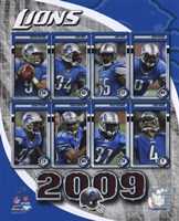 2009 Detroit Lions Team Composite Fine Art Print