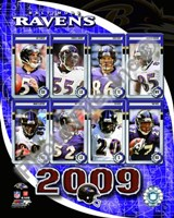 "2009 Baltimore Ravens Team Composite, 2009 - 8"" x 10"""