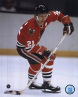 Stan Mikita Action Fine Art Print
