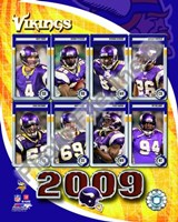 2009 Minnesota Vikings Team Composite Fine Art Print