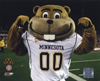 "Mascot Goldy University of Minnesota Golden Gophers 2008 - 10"" x 8"""